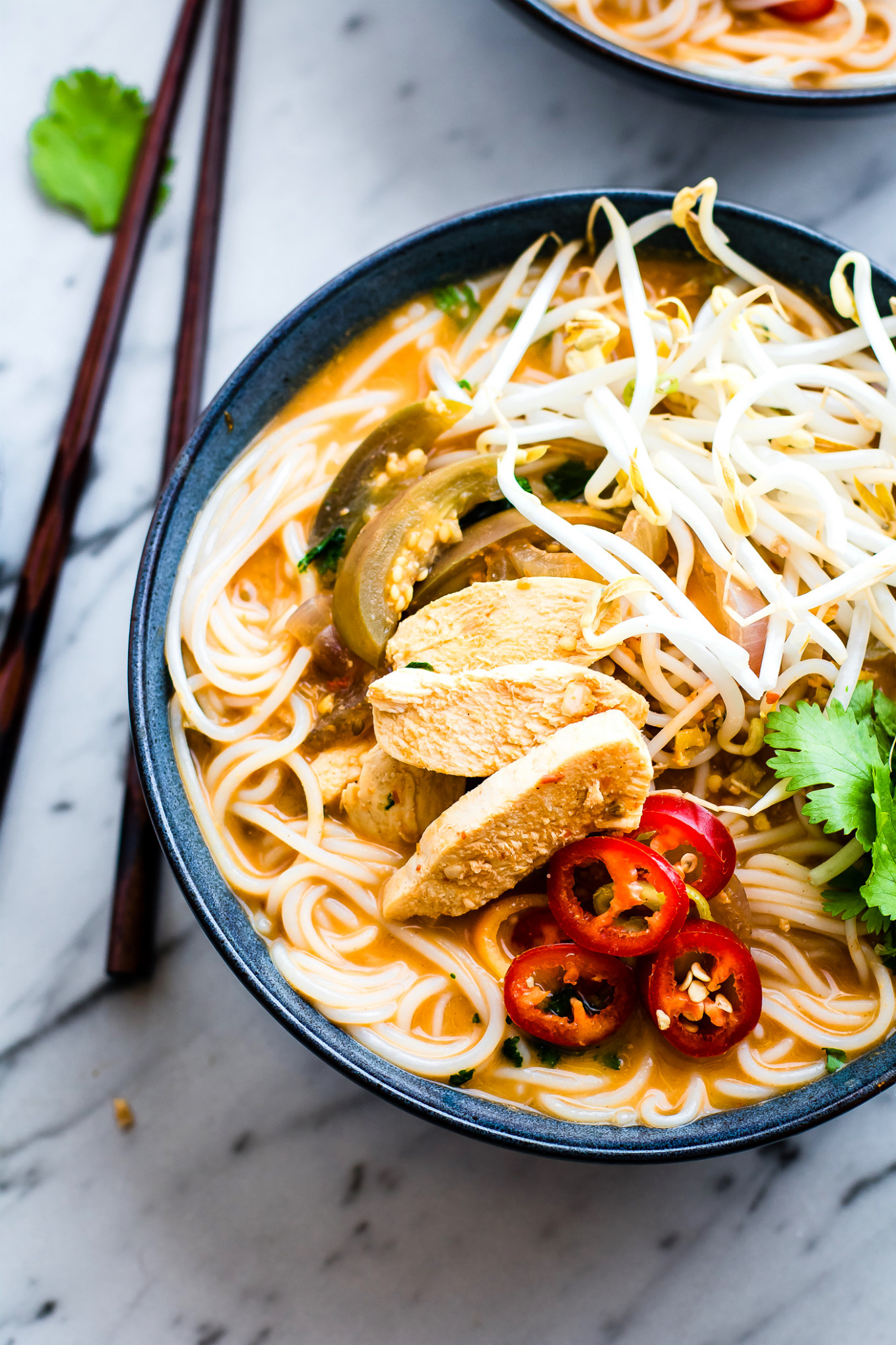 Chicken Pho with Spicy Almond Sauce (Gluten Free Pho ...