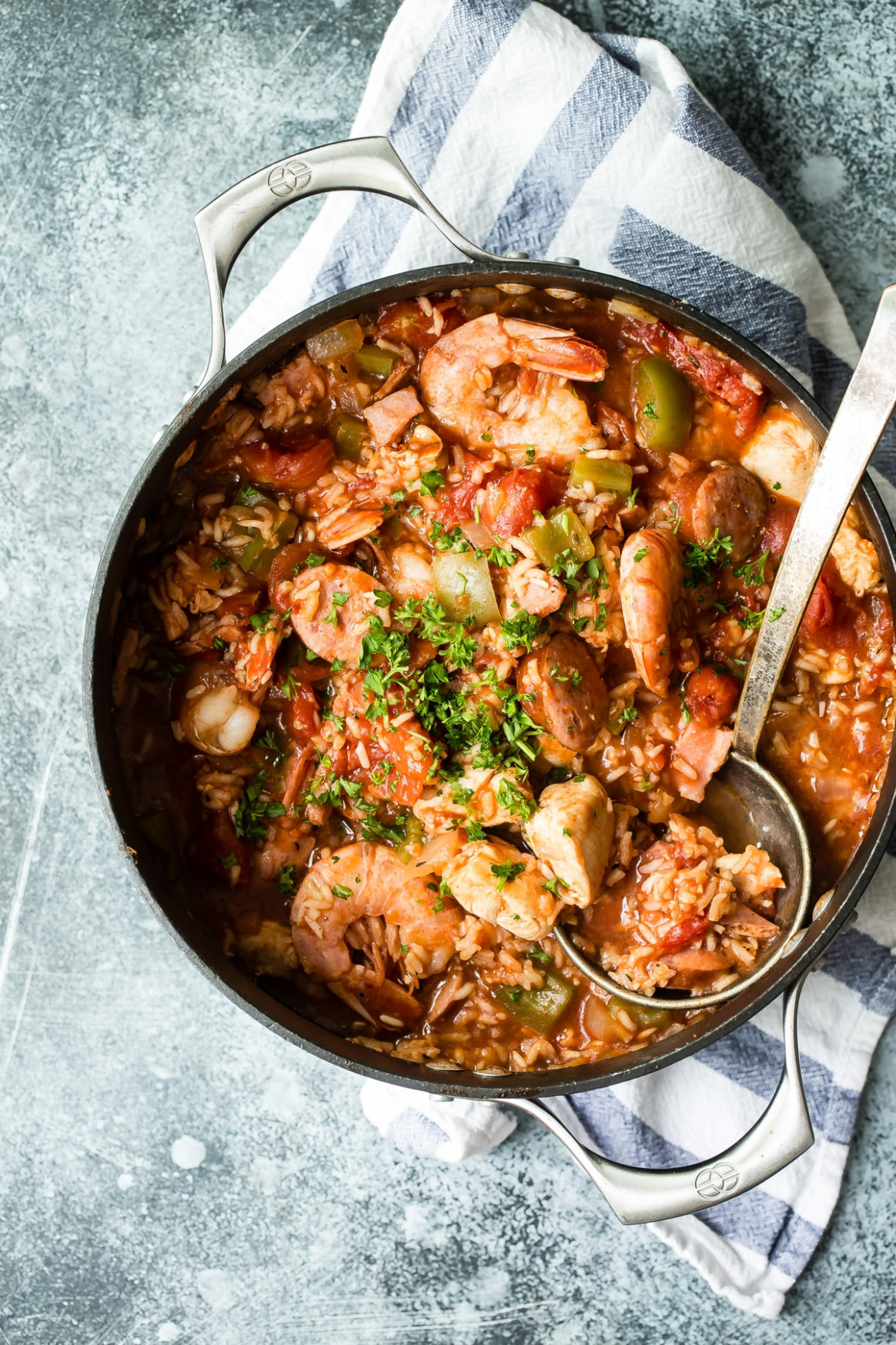 Chicken Sausage and Shrimp Cajun Jambalaya - Foodness Gracious