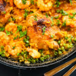 Chicken Thighs And Shrimp Paella Recipe – Munchkin Time