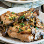 Chicken Thighs With Mushrooms, Lemon And Herbs