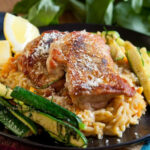 Chicken Thighs With Sweet Potato Orzo Risotto & Zucchini …