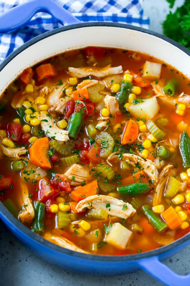 Chicken Vegetable Soup - Dinner at the Zoo