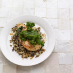 Chicken With Kale And Freekeh Lentil Pilaf