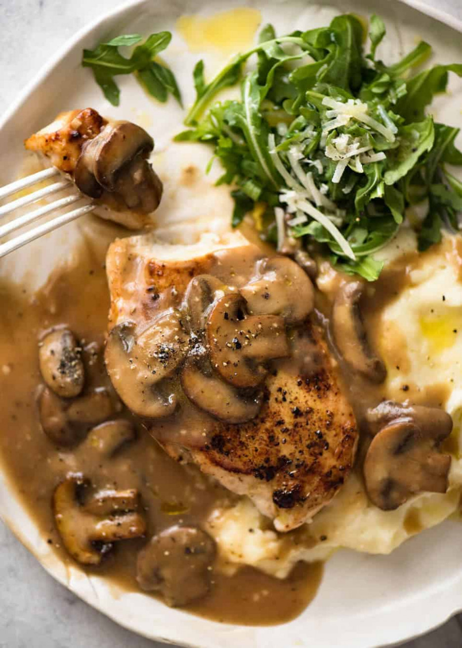 Chicken with Mushroom Gravy | RecipeTin Eats