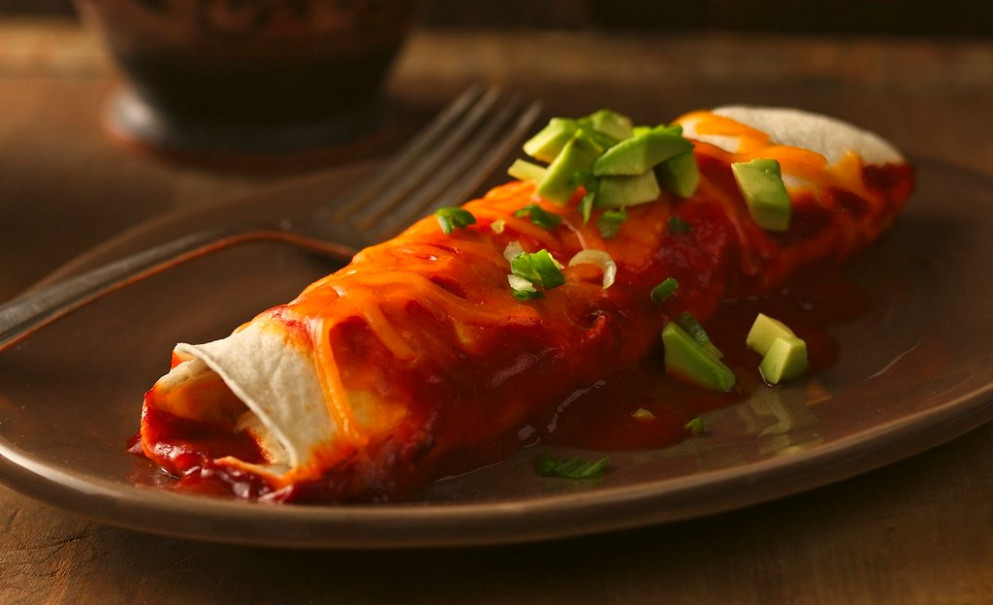 Chile Chicken Enchiladas
