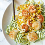 Chili Lime Shrimp & Scallops With Corn, Zucchini Noodles …
