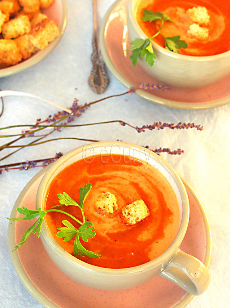 Chilled Red Bell Pepper Soup