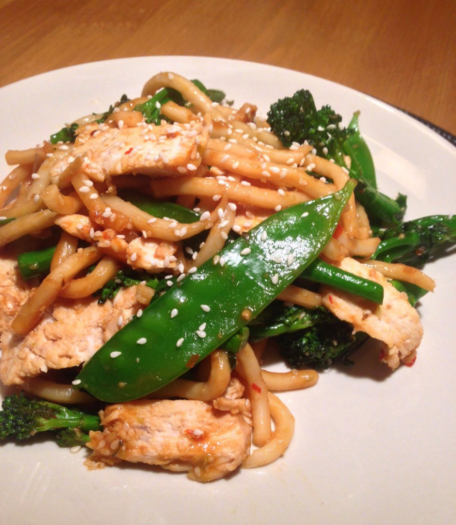 Chilli Ginger Chicken With Udon Noodles | The Glasgow Scullery