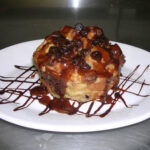 Chocolate Chip Bread Pudding With Cinnamon – Rum Sauce