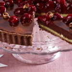 Chocolate Hazelnut Tart With Cherries | RecipesPlus