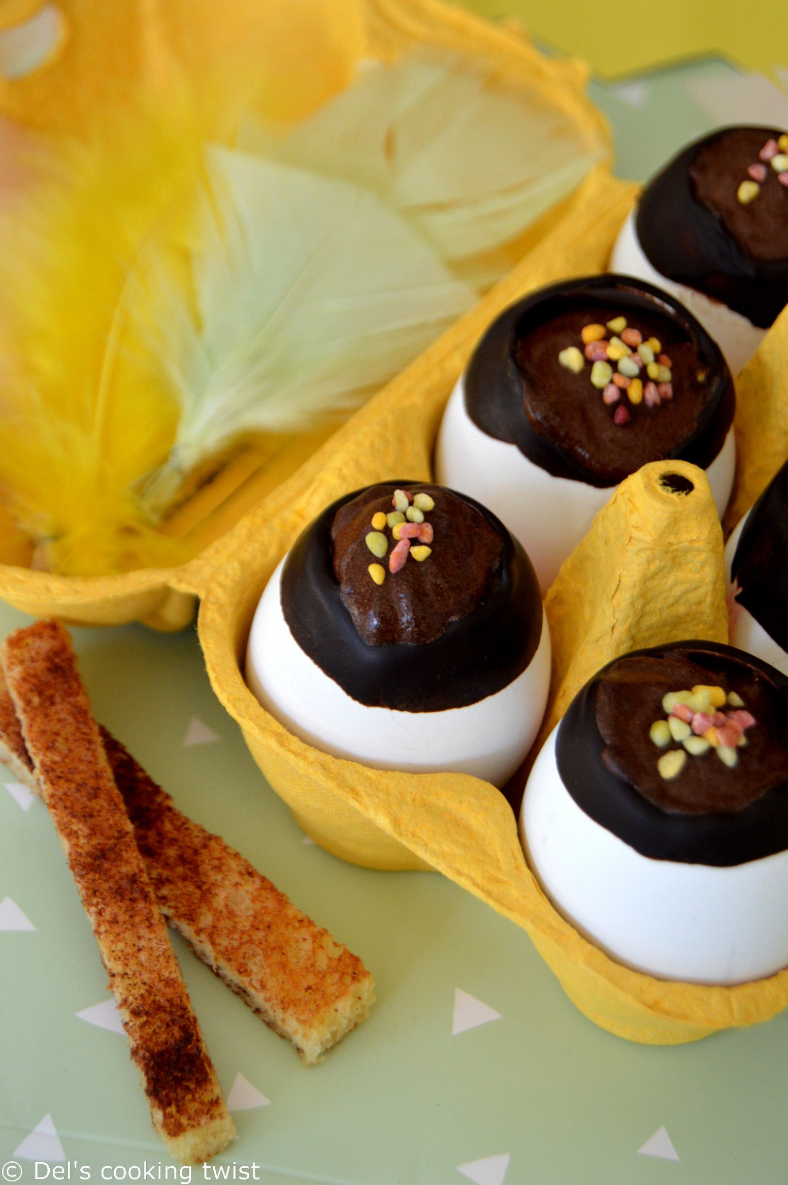 Chocolate Mousse filled Easter Eggs and Cinnamon Fingers ...