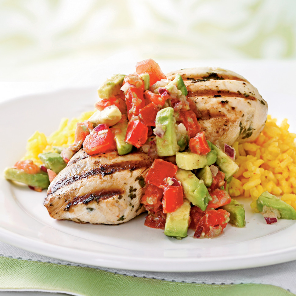 Cilantro-Lime Chicken with Avocado Salsa Recipe | MyRecipes