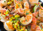 Cilantro Lime Shrimp with Mango Salsa   Dinner at the Zoo