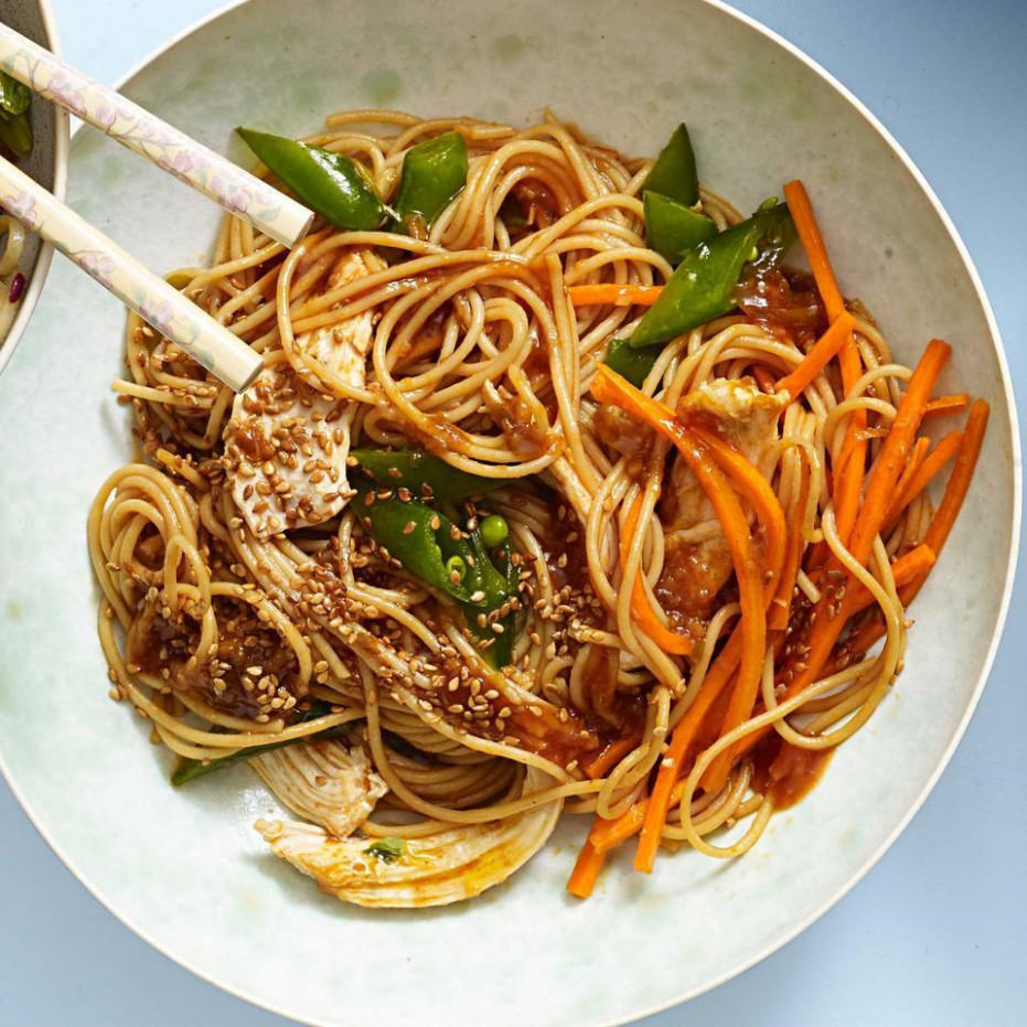 Classic Sesame Noodles with Chicken Recipe - EatingWell