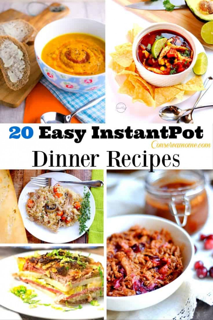 ConservaMom - 20 Easy Instant Pot Dinner Recipes - ConservaMom