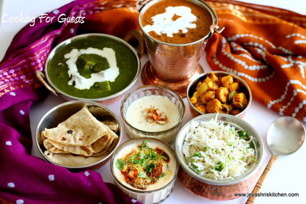 COOKING FOR GUESTS SERIES #11 – NORTH INDIAN MENU …