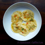 Crab Ravioli With Lemon Butter Sauce – A Cookbook Collection