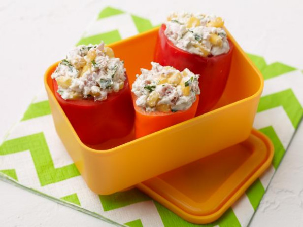 Cream Cheese and Ham Stuffed Peppers Recipe | Food Network ...