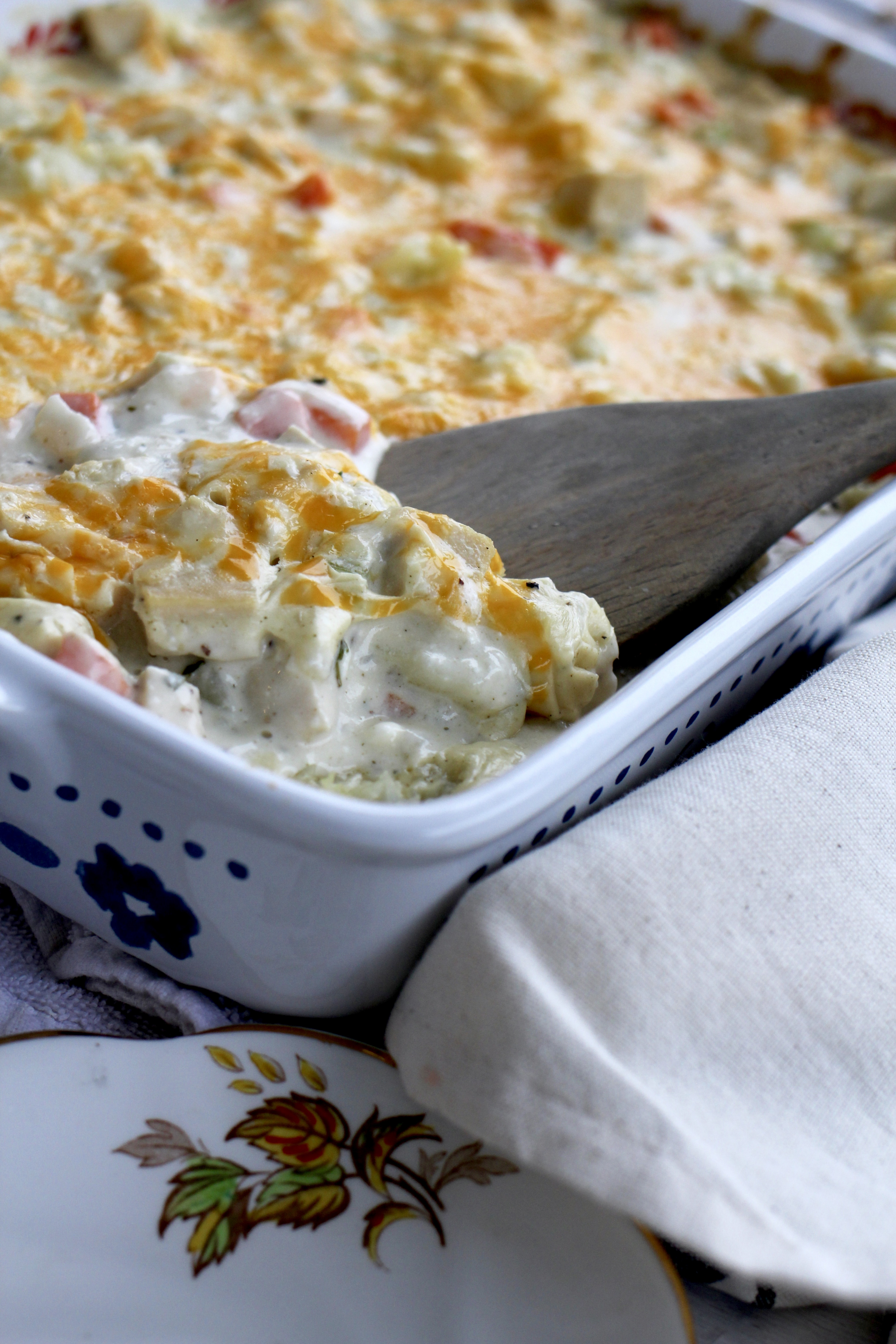 Cream Cheese Chicken Casserole | A Bountiful Kitchen