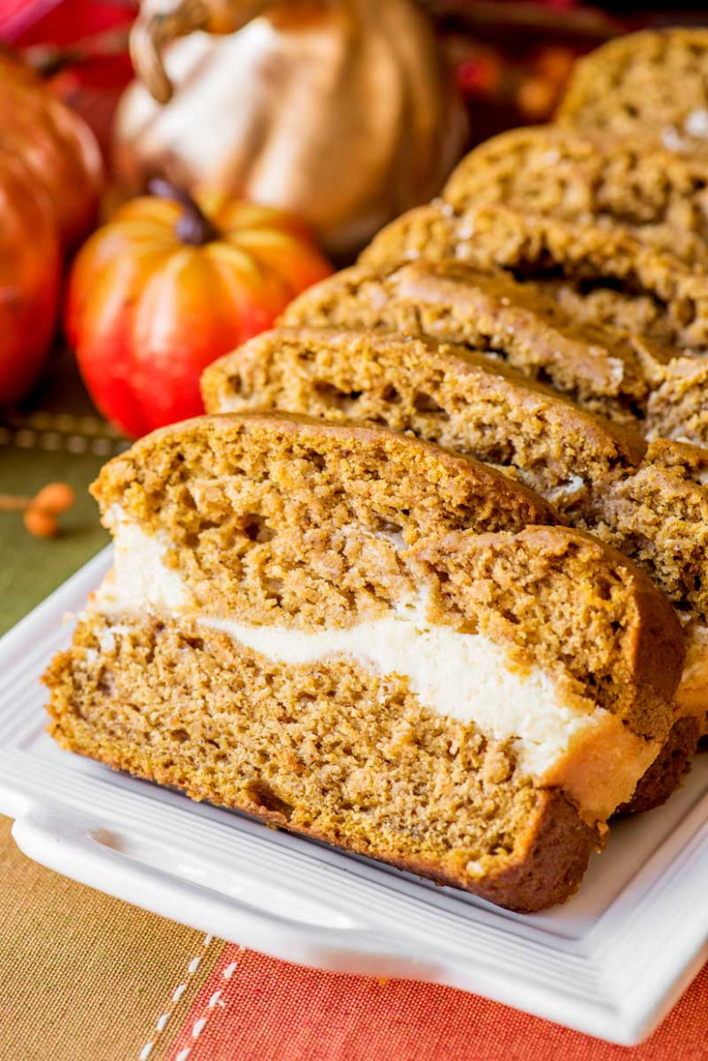Cream Cheese Pumpkin Bread - Homemade Hooplah