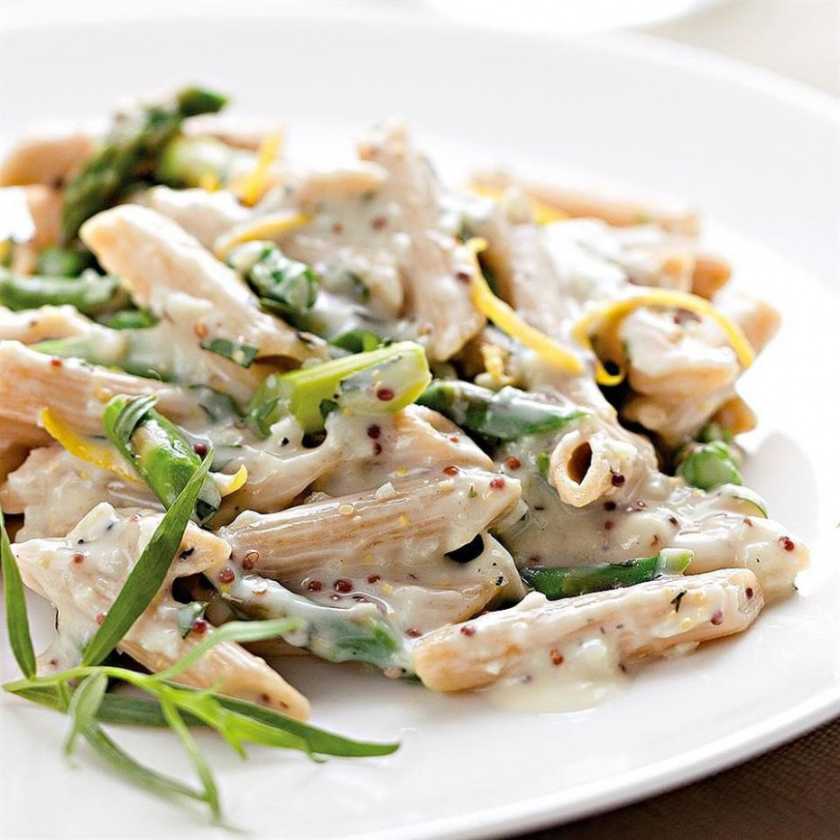 Creamy Asparagus Pasta Recipe - EatingWell