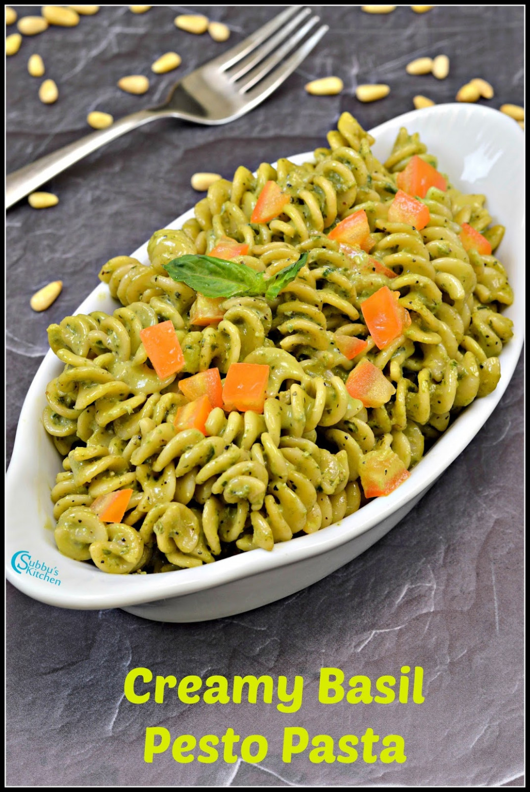 Creamy Basil Pesto Pasta Recipe | Pasta with Basil Pesto ...