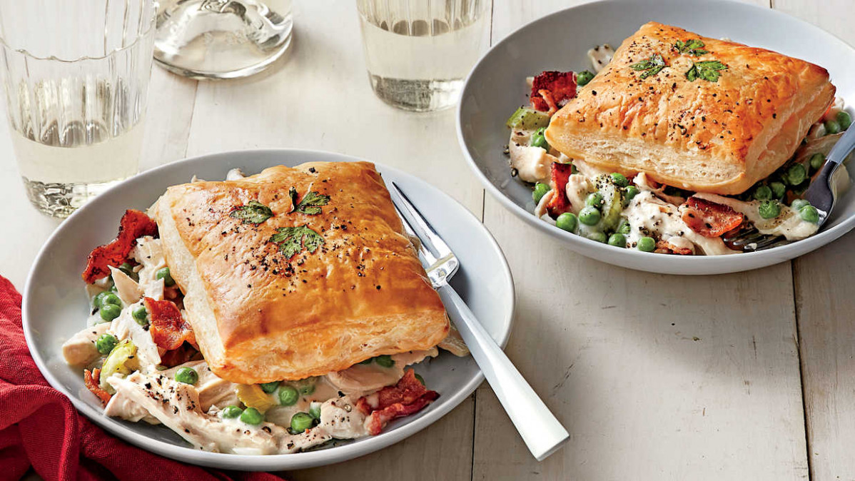 Creamy Chicken and Bacon Recipe with Herbed Puff Pastry ...