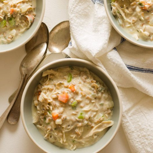 Creamy Chicken and Farro Soup | Recipe | chicken dinner ...
