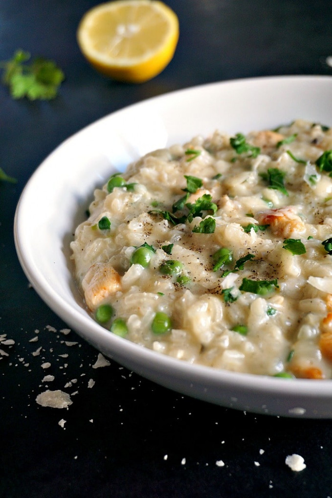 Creamy Chicken Risotto With Peas – My Gorgeous Recipes