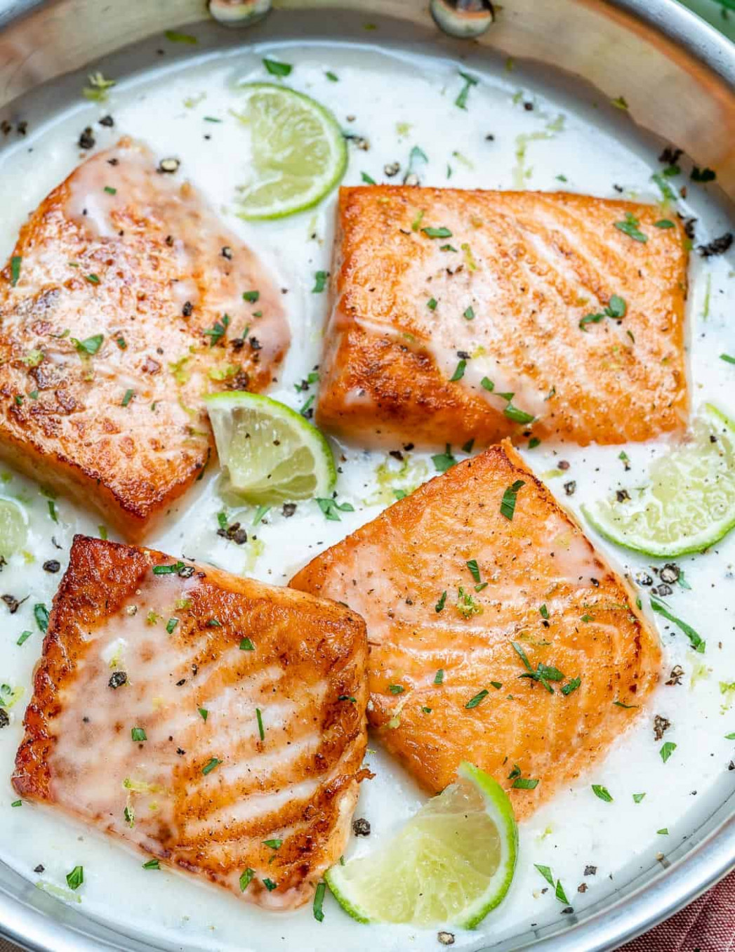 Creamy Coconut Lime Salmon Recipe | Healthy Fitness Meals
