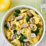 Creamy Mushroom Tortellini | Easy Delicious Recipes