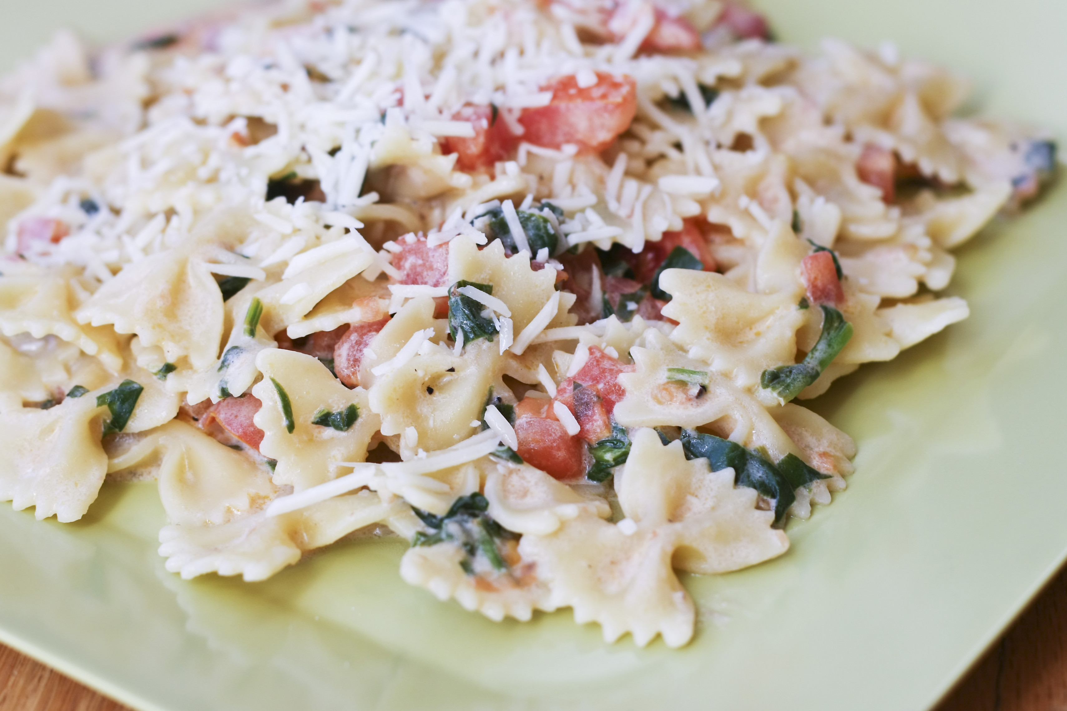 Creamy Pasta with Greens and Tomatoes | Tasty Kitchen: A ...
