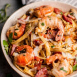 Creamy Shrimp And Chorizo Pasta With Mushrooms • Salt …