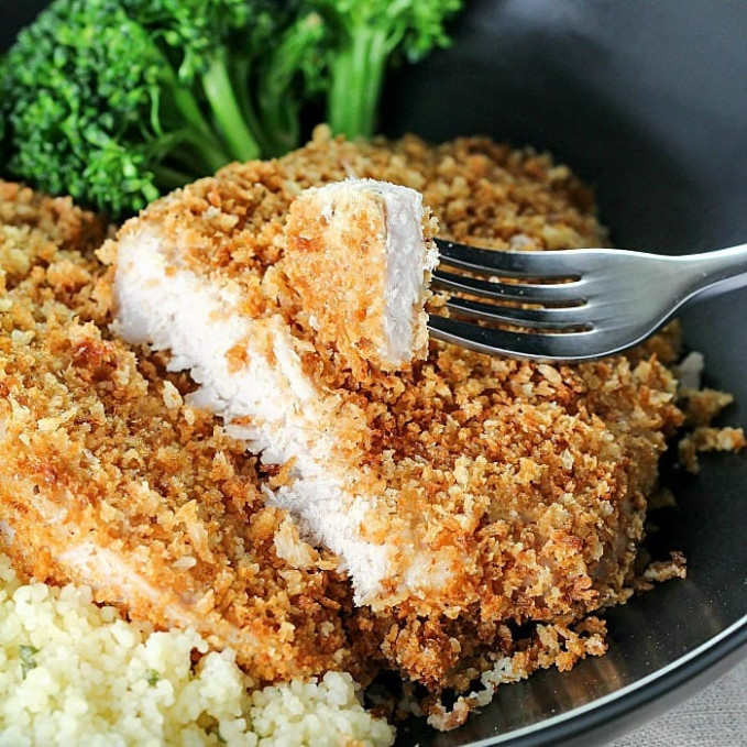 Crispy Baked Breaded Pork Chops – Yummy Healthy Easy