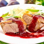 Crispy Duck Breast With A Plum & Star Anise Sauce