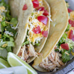 Crockpot Chicken Tacos (Slow Cooker Chicken Tacos Recipe)