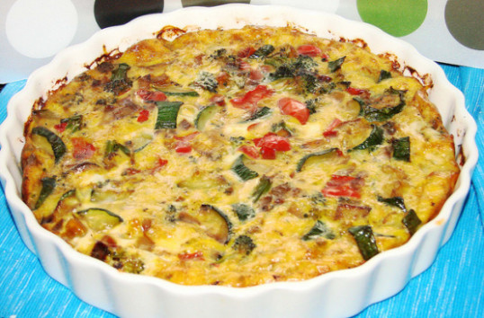 Crustless Vegetable Quiche Recipe - Genius Kitchen