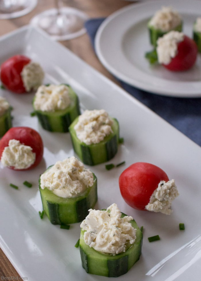 Cucumber & Pepper Cups: 5 Minute Appetizer Recipe - Bren Did