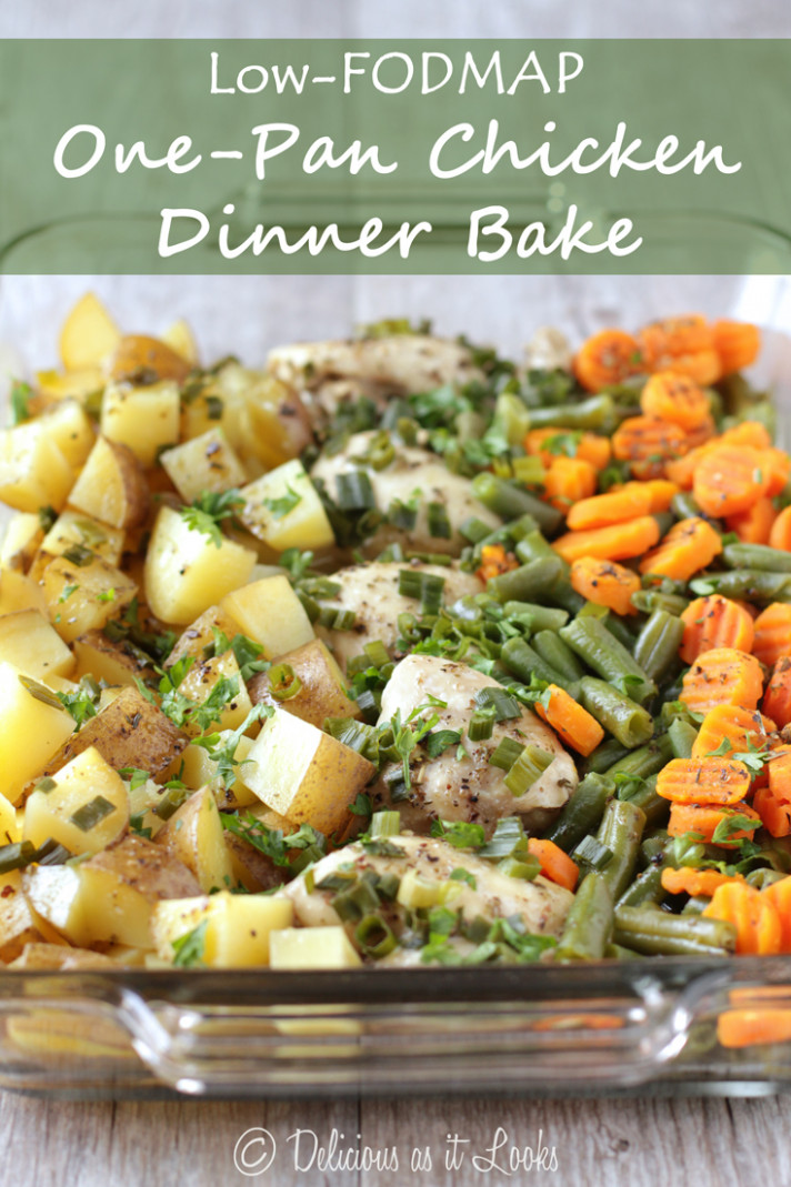 Delicious as it Looks: Low-FODMAP One-Pan Chicken Dinner Bake