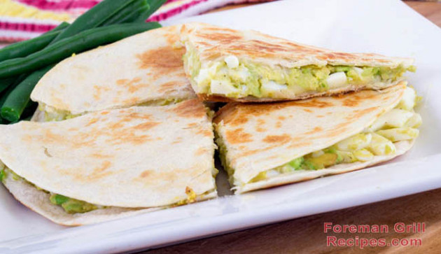 Delicious Chicken Quesadillas on a George Foreman Grill Recipe