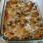 Delicious Spinach & Chicken Pasta Bake | My Life Well Loved