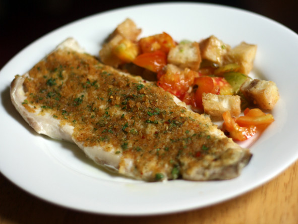 Dinner Tonight: Baked Fish with Savory Bread Crumbs Recipe ...