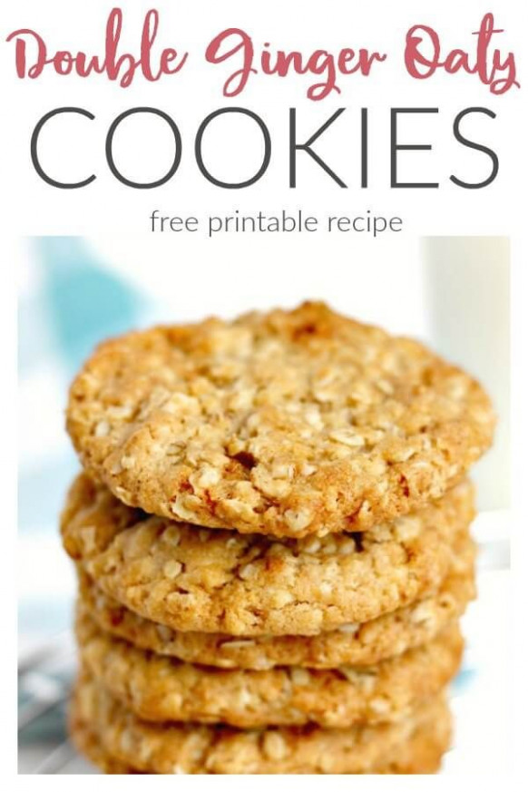 Double Ginger Oat Cookies | Recipe | Biscuits | Oat ...