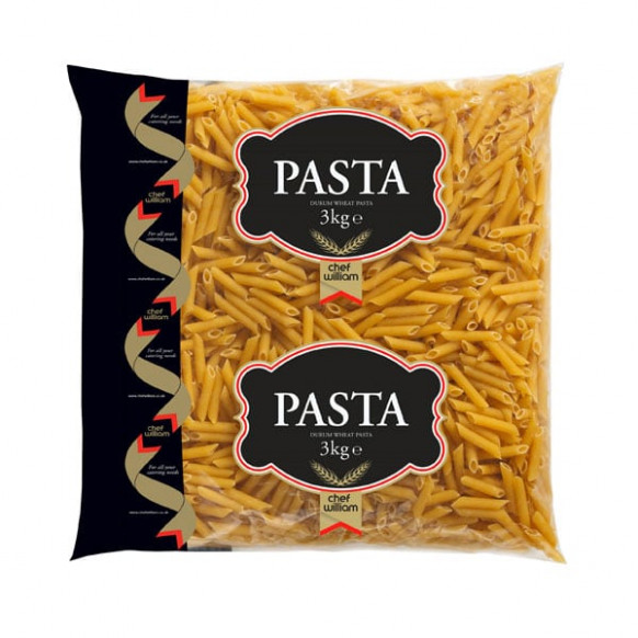 Dried Penne Pasta Quills Wholesale Pack 4 x 3kg ...