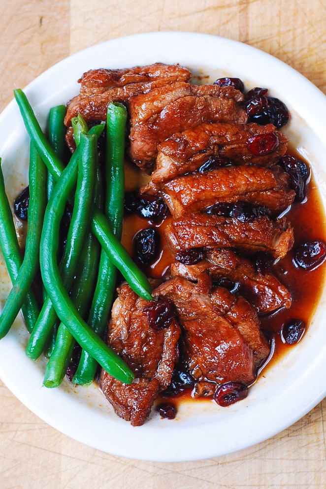 Duck Breast with Cranberry Sauce