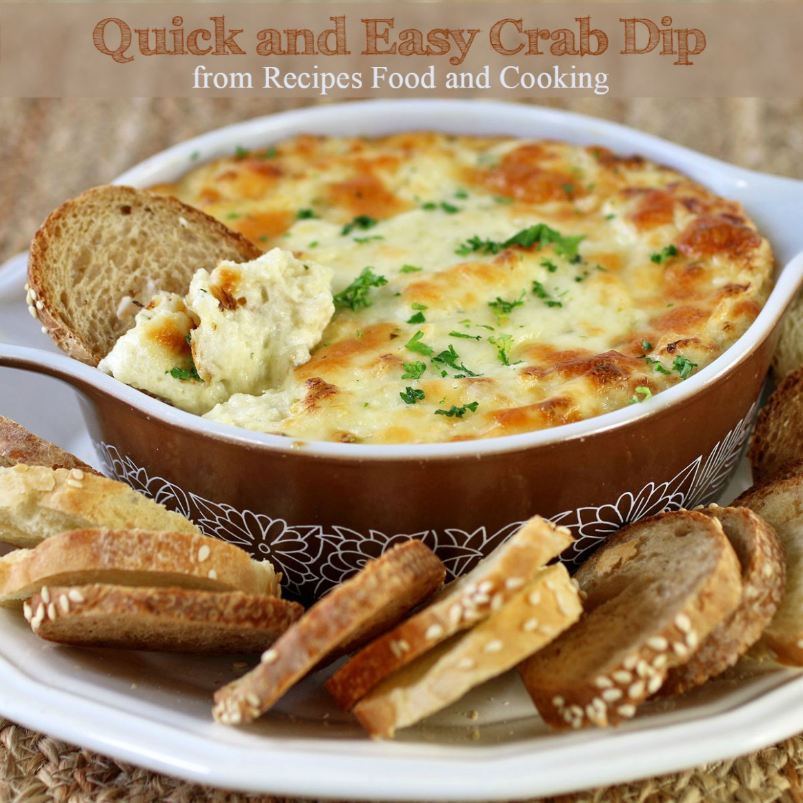 Easy and Quick Crab Dip - Recipes Food and Cooking