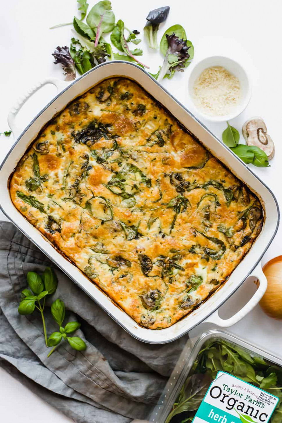 Easy Baked Frittata Recipe with Spinach (Gluten-Free)