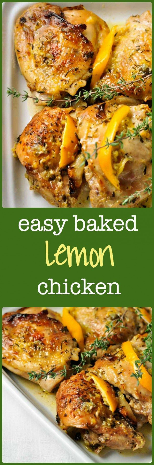 Easy Baked Lemon Chicken | Recipe | Wraps, Succulents and ...