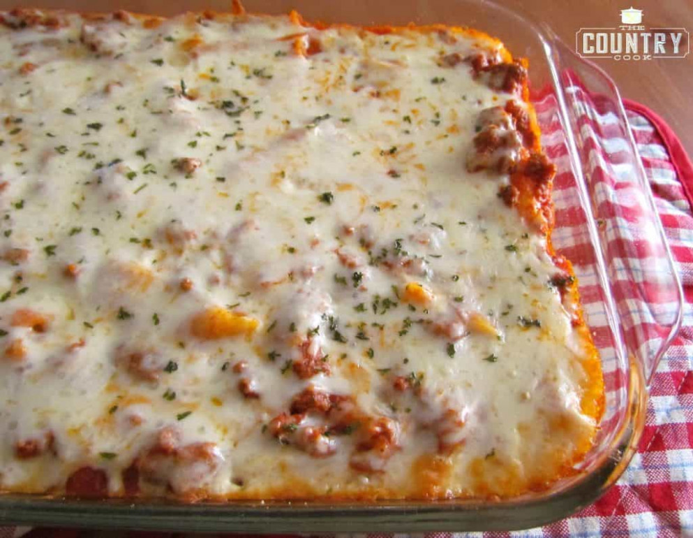 Easy Baked Ziti - The Country Cook