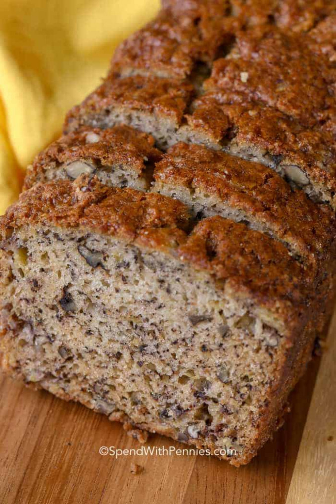 Easy Banana Bread Recipe Deliciously Moist! - Spend with ...